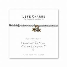 "Life Charms Bracelet - "" I Wanted To Say CONGRATULATIONS ! "" -  Gift Boxed"